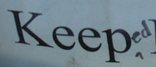 keeped