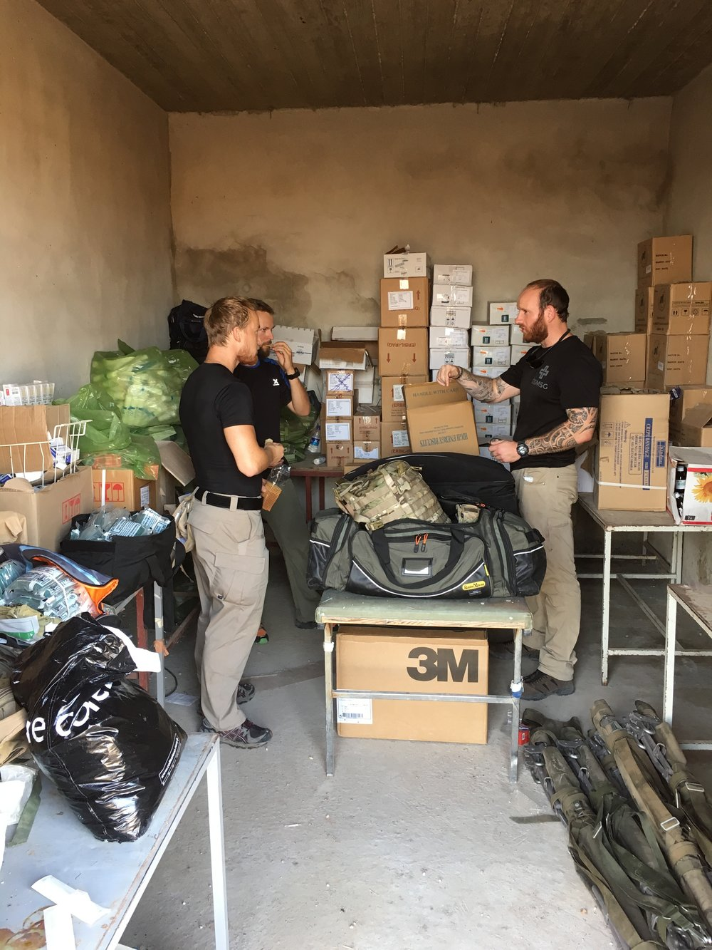GSMSG team members at a field hospital in Northern Iraq near Mosul