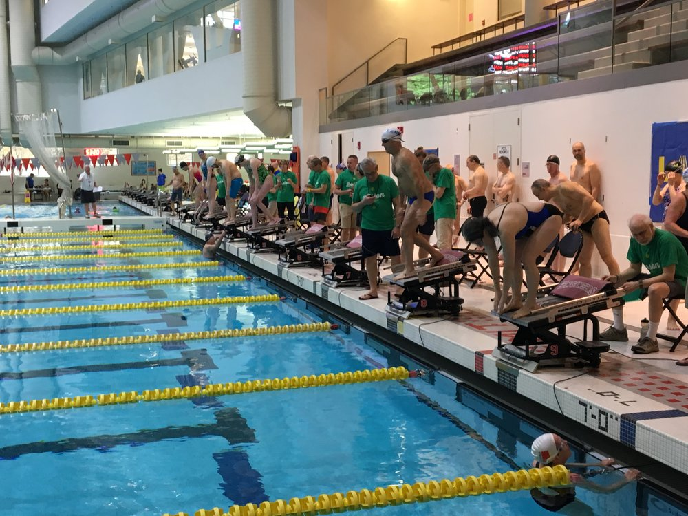 The start of a race at MIT's beautiful facility