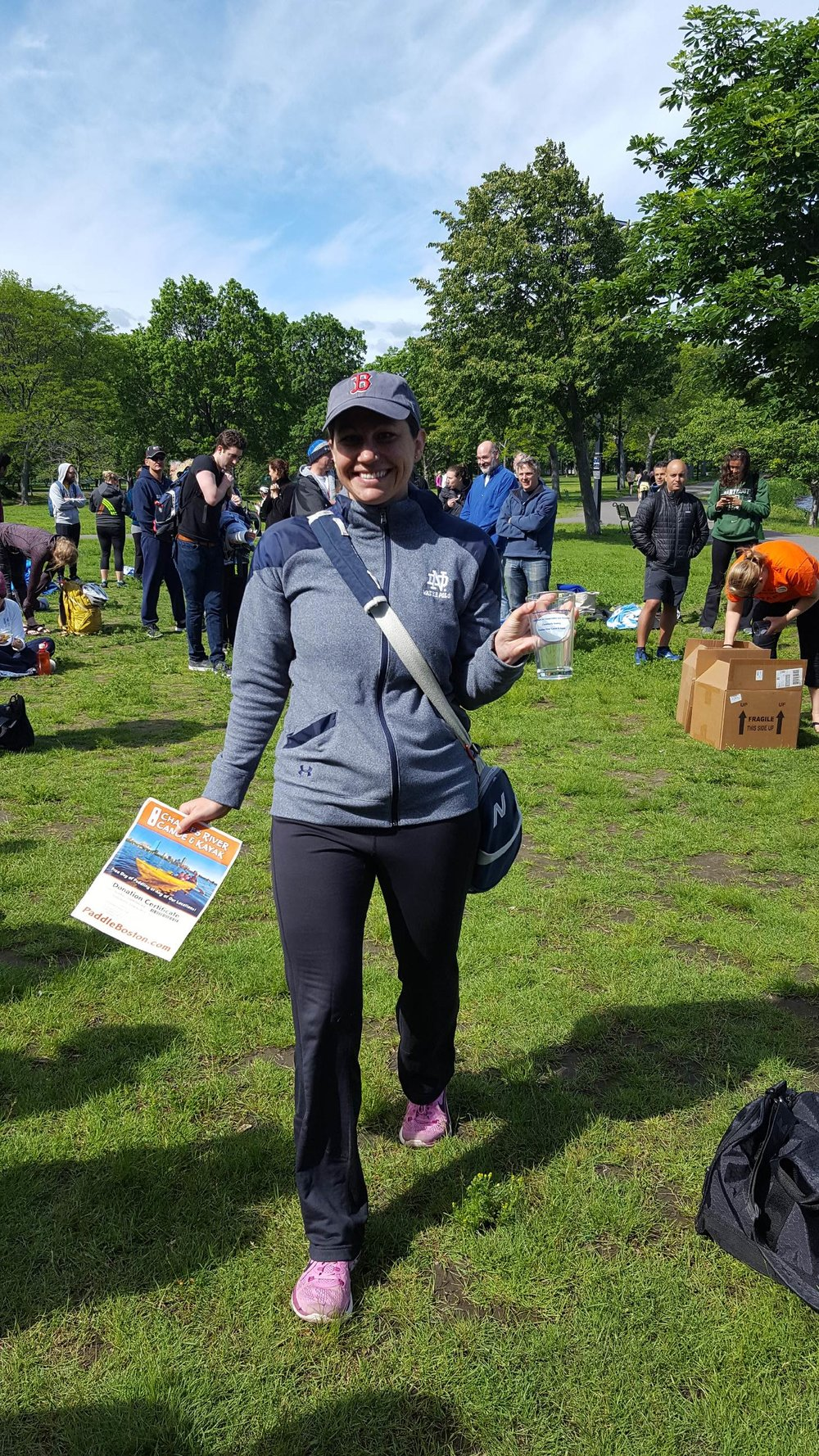 Award winners received an 'I Swam the Charles' pint glass and a day of kayaking, SUPing, or canoeing on the Charles, courtesy of Charles River Canoe and Kayak