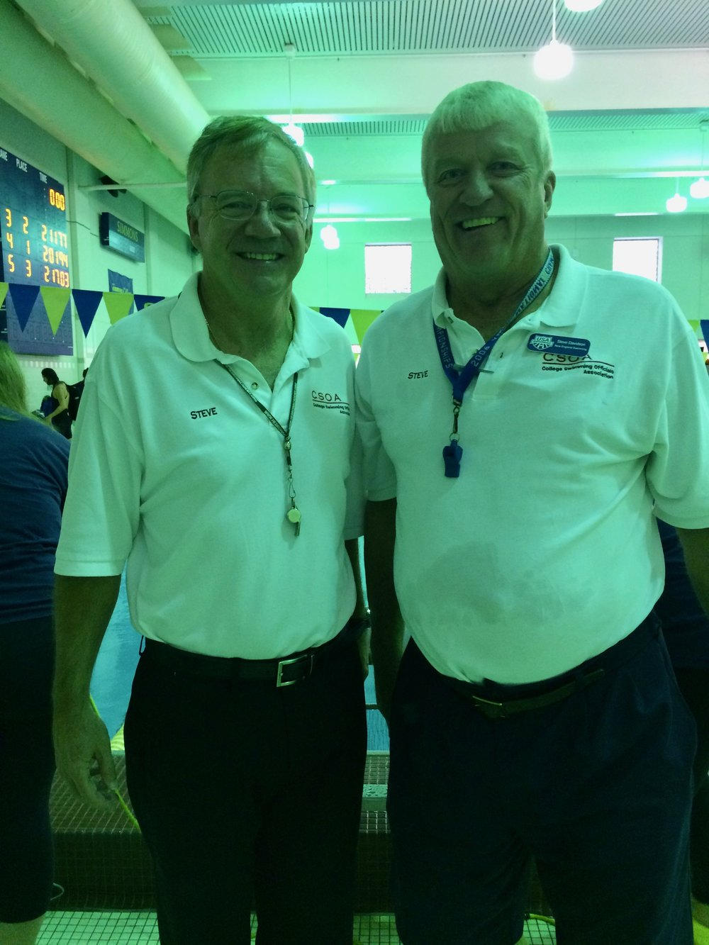 Our meet officials, Steve McAlarney and Steve Davidson