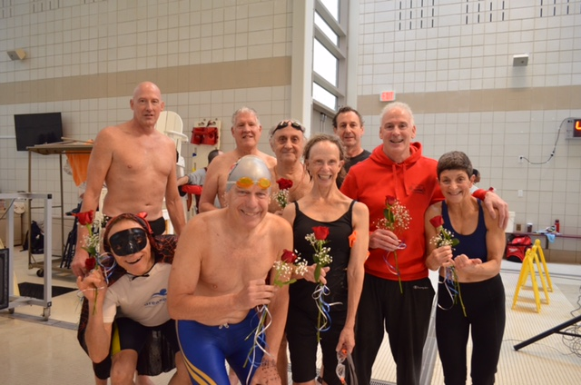 Roses for all swimmers over the age of 60!