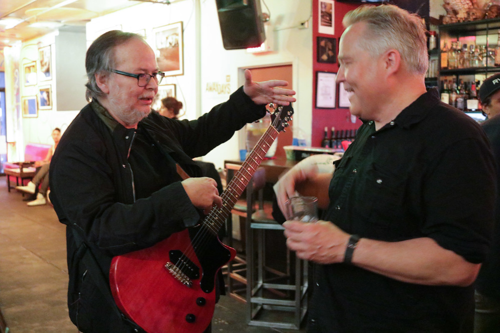 Steely Dan's Walter Becker and Saul Koll. That's a 2016 Koll Junior Glide.