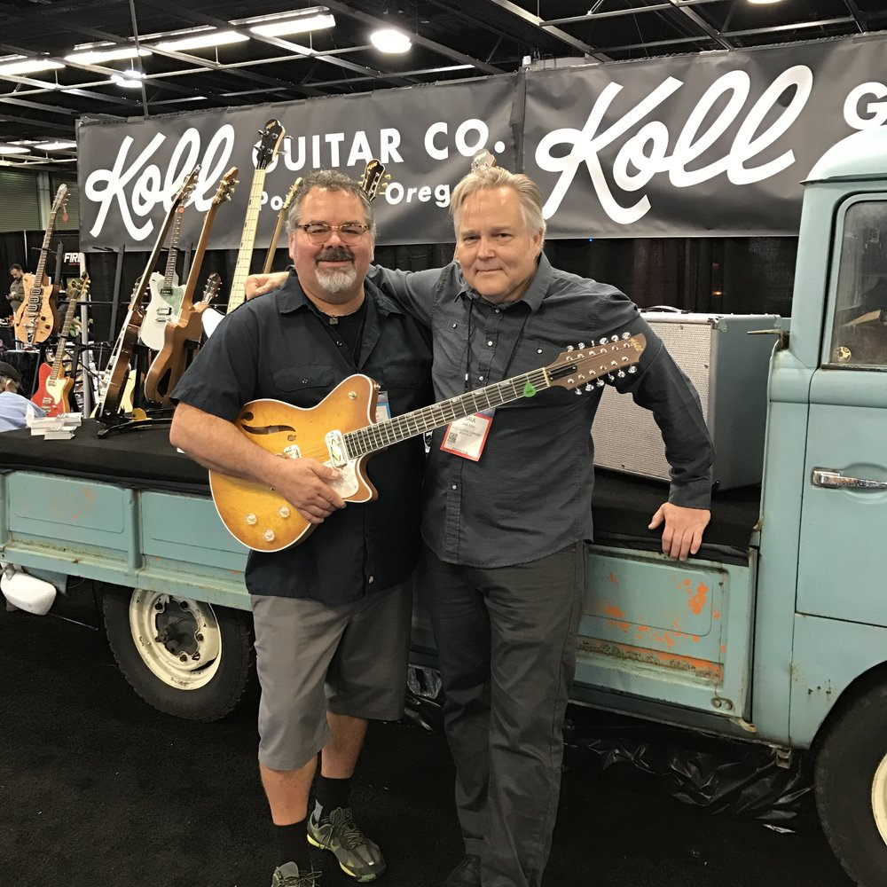 Curtis Novak with a Koll Duo Glide 12-string