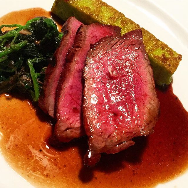 When was the last time you had some spring nettle polenta with that steak of yours? Was it never?  Well, check that off your bucket list and get yourself down here quick while the spring is still sprung! #goodeats #springnettle #dining #victoriadining #steak #steakideas #dinnerideas #vancouverislandeats #victorsfinedining #steakideas #goodeats #seasonal #seasonalcooking #seasonalingredients #interestingfood #goodfood #delicious
