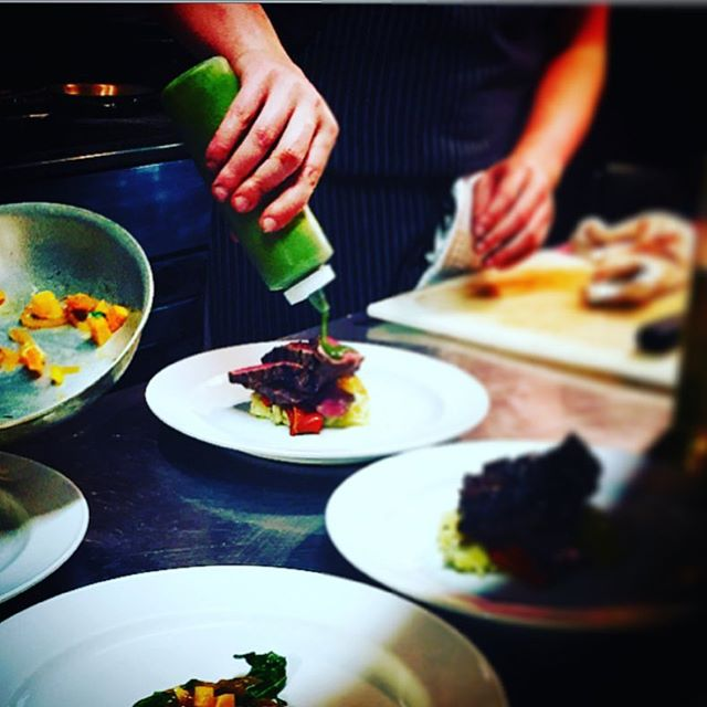 Wonder what we might be cooking up tonight?  You might want to come see what's what since it's the first night open for the week and that means fresh fresh fresh (and the staff too! Ha ha). #goodeats #victoriaeats #gooddining #plating #victoria #victoriabc #eats #restaurantfood #kitchenlife