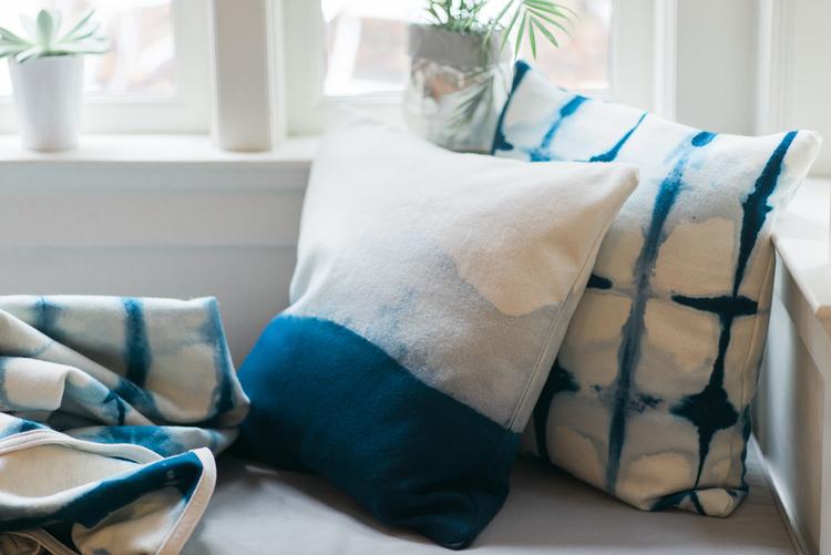 and pennies finding close white diy pillow shibori blue silver pillows up