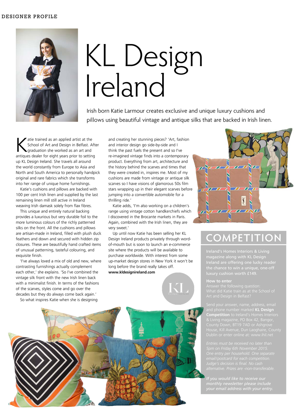 Ireland's Home Interiors & Living Magazine - KL Design Ireland