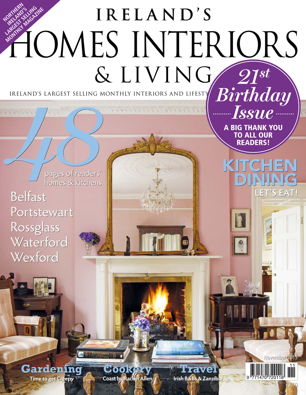KL Design Ireland features in Ireland's Home Interiors & Living Magazine's November issue.