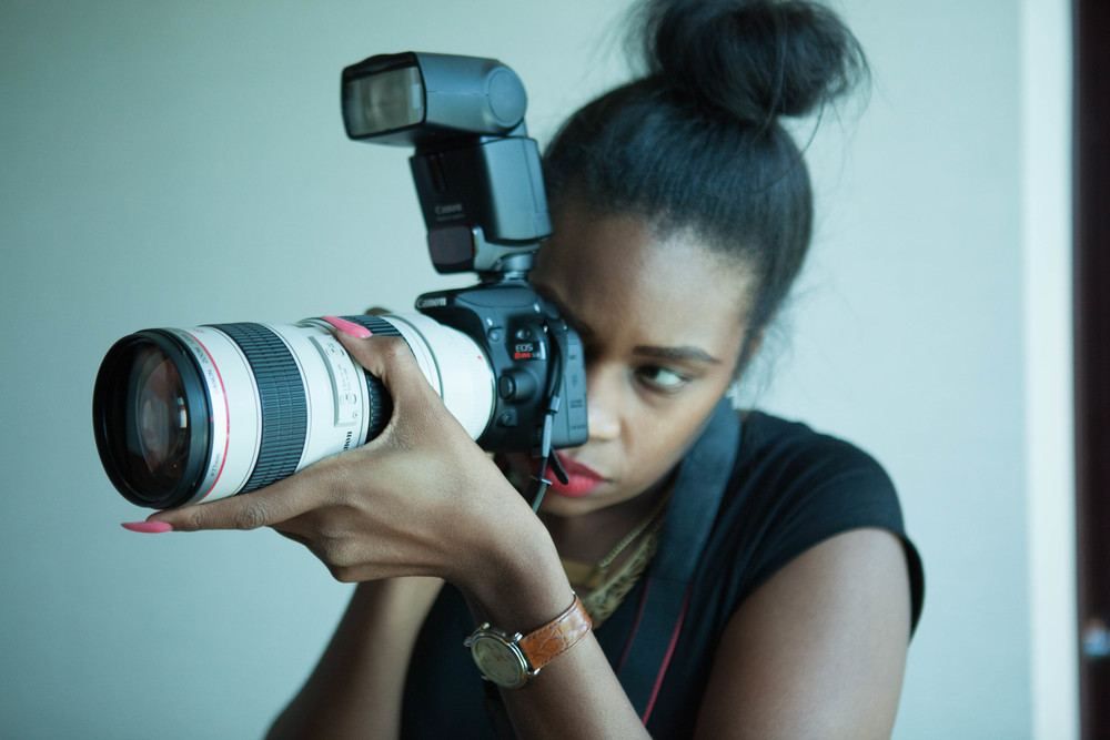 """""""I get a euphoric feeling when I'm shooting. It's like, I'm helping to create little moments of magic and making them last a lifetime"""" -Pharrah J"""