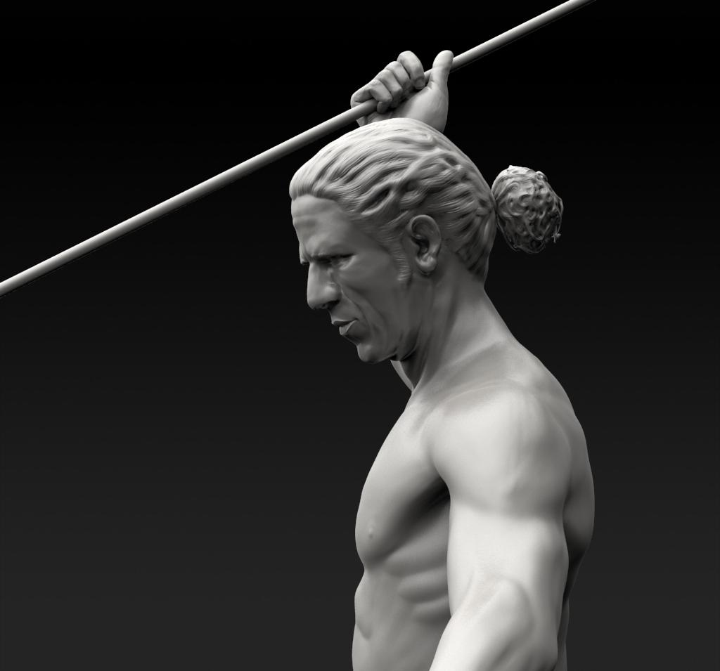 male figure sculpt christopher dean 3d