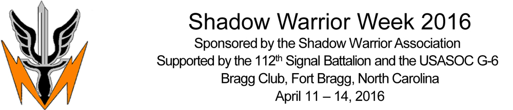 Tricom Research will be proudly supporting Shadow Warrior Week 2016. We will be displaying our products and answering your questions April 11 - April 14 in Fort Bragg. Stop in and see us at booth #9. For further details please contact Tony Urenda (turenda@tricomresearch.com).