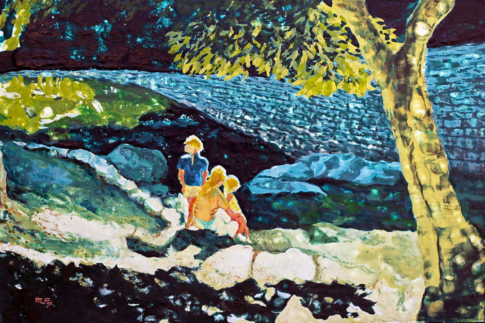 "Afternoon at the Creek, 24"" x 36"", Maura Fox"