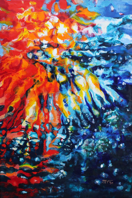 "Nebula, 24"" x 36"", Maura Fox"