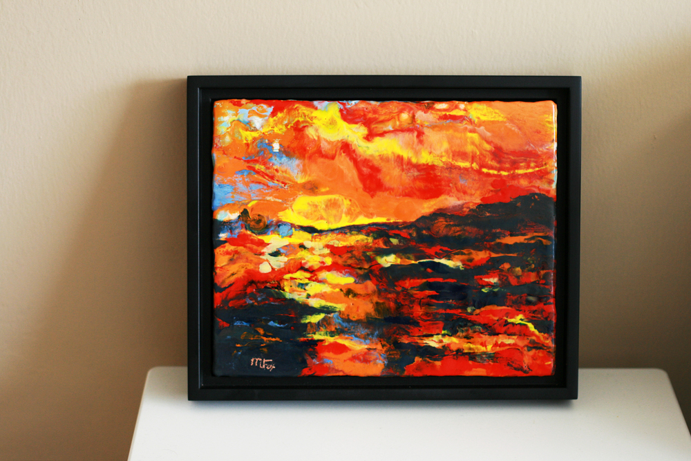 """""""Enigma"""" in Illusion Floater Frame."""