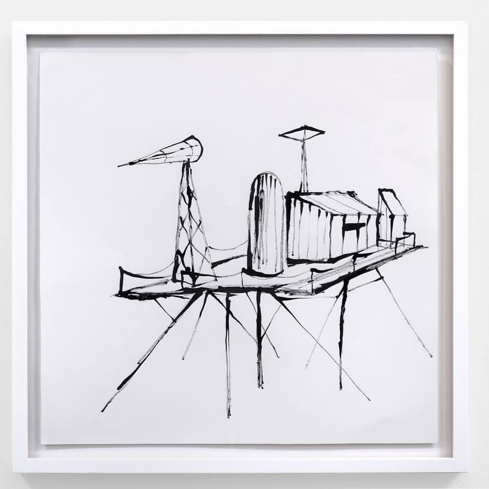 Russell Crotty, 'Platform Lander', 2015 #shoshanawayne #shoshanawaynegallery #russellcrotty #contemporaryart #drawing