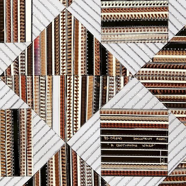 "Sabrina Gschwandtner, ""Peruvian Weaving: A Continuous Warp"", 2015 #shoshanawaynegallery #filmquilts #sabrinagschwandtner"