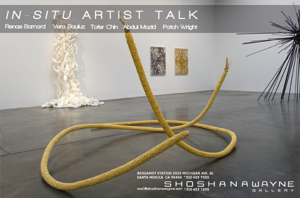 Join us for an artist talk Saturday, August 23, 2014 at 11:30 AM! Please RSVP to Alana Parpal : alana@shoshanawayne.com