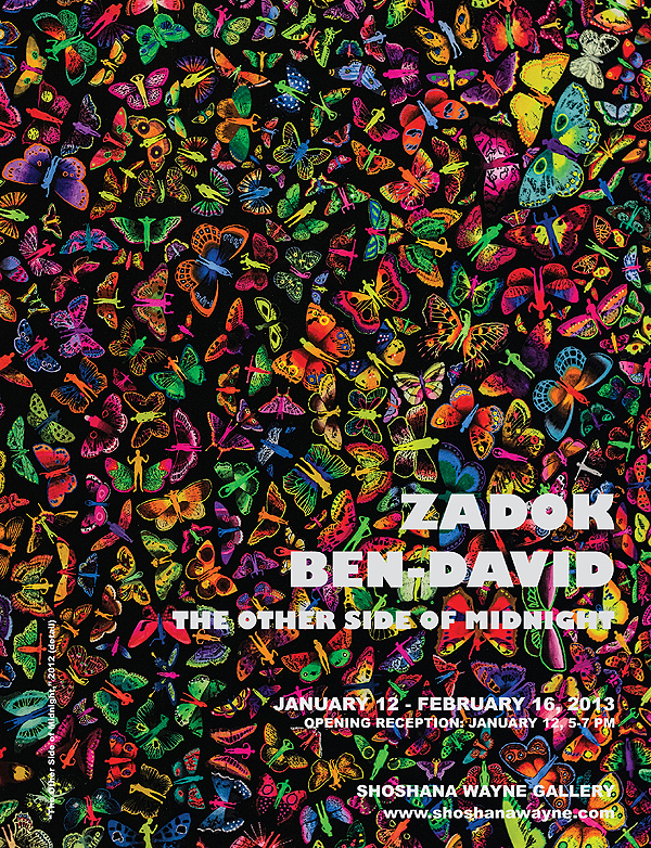 Please join us this Saturday, 5-7 PM, for the opening of Zadok Ben-David's  The Other Side of Midnight !