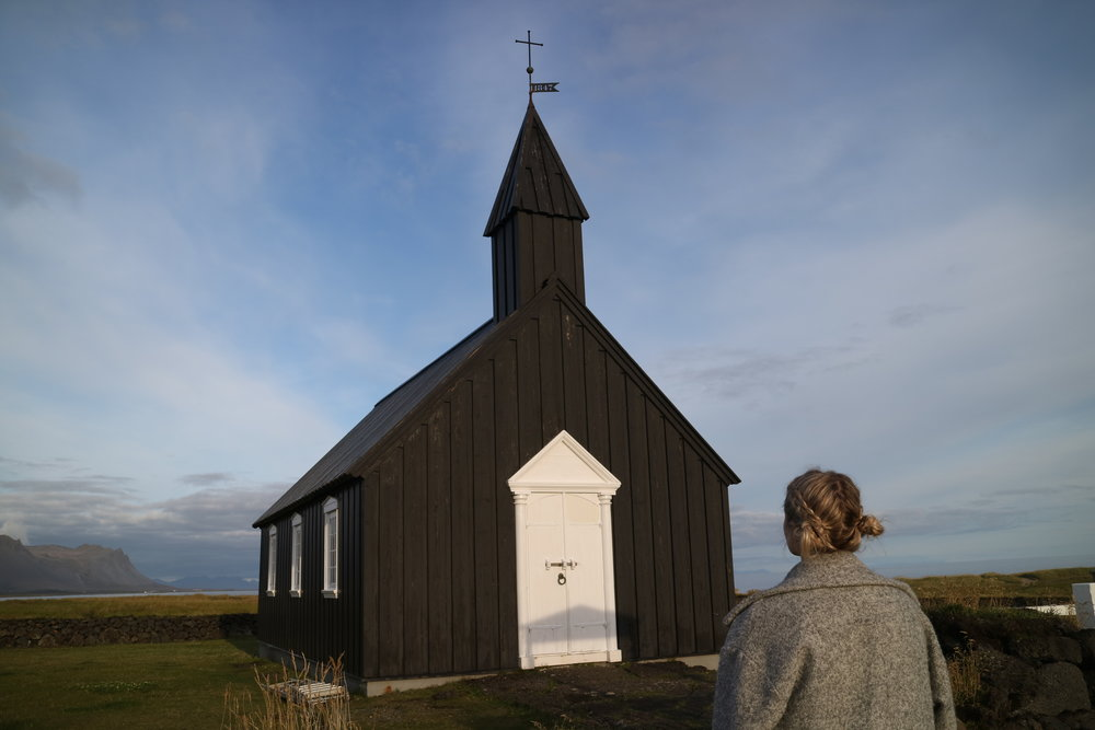 Budvir Black Church Iceland