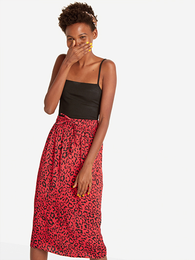 The Red Leopard Skirt, SALE: £17.50