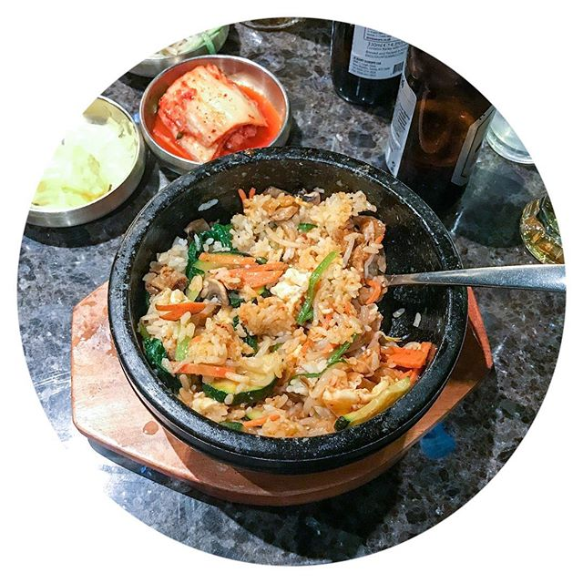 Pork Bibimbap, YES PLEASE. Went to Arang in soho the other day, it was so tasty and filling and great value for money. #bibimbap #koreanfood #arang