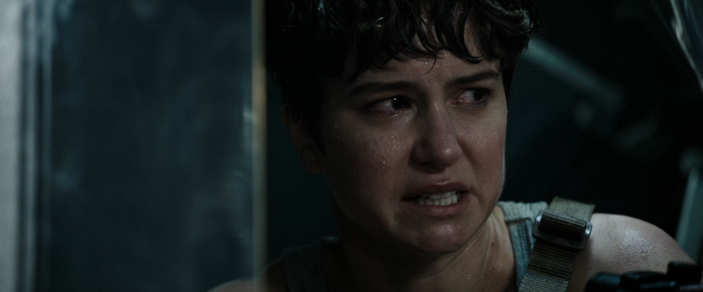 Our proto-Ripley, portrayed by real-life chameleon Katherine Waterston