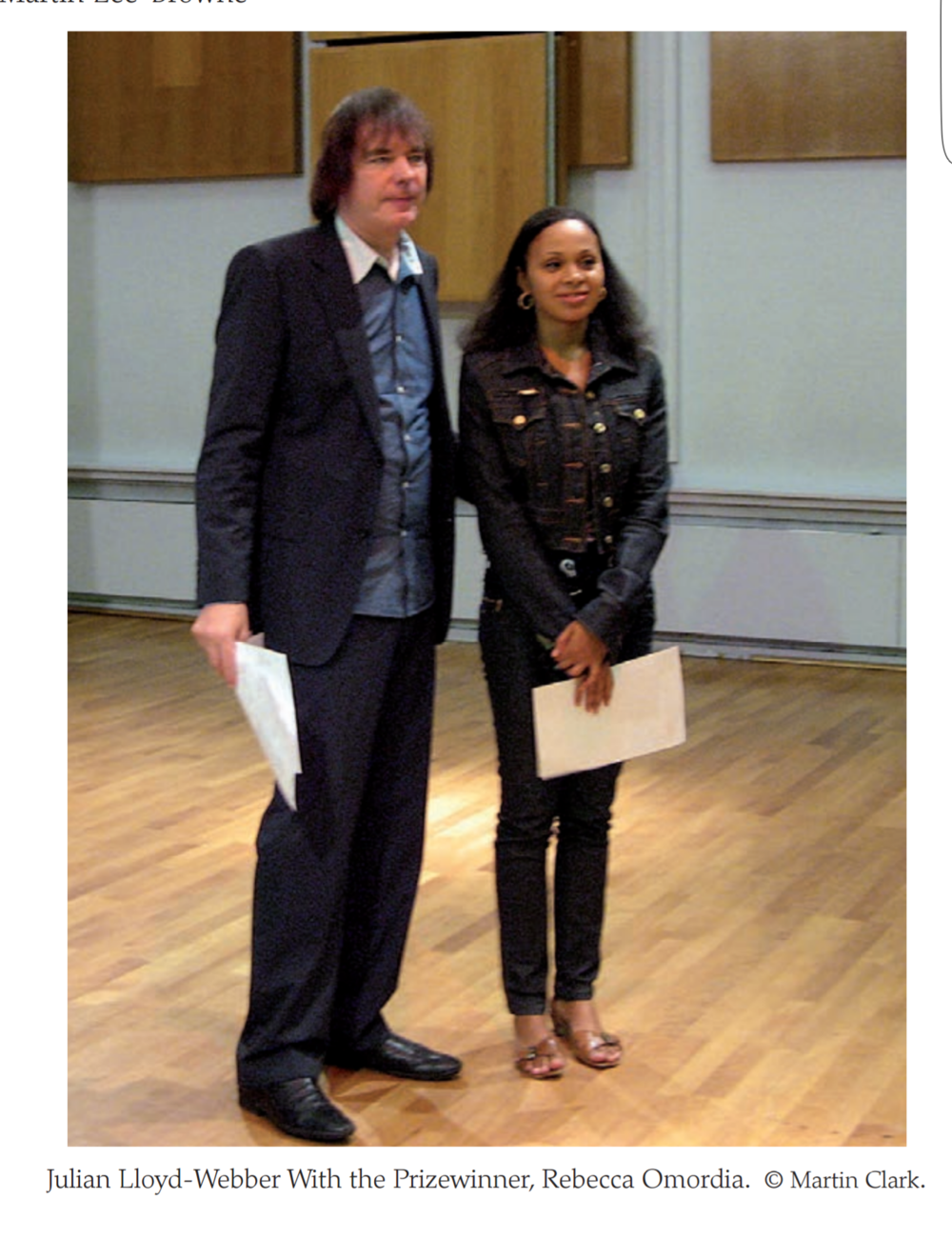 Julian Lloyd Webber and Rebeca Omordia - Delius Prize at Birmingham Conservatoire, 2009