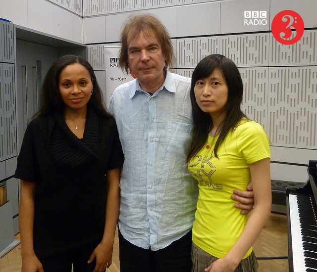 Rebeca Omordia, Julian & Jiaxin Lloyd Webber in the BBC Radio 3 studio, 24 January 2012 C. BBC Radio 3