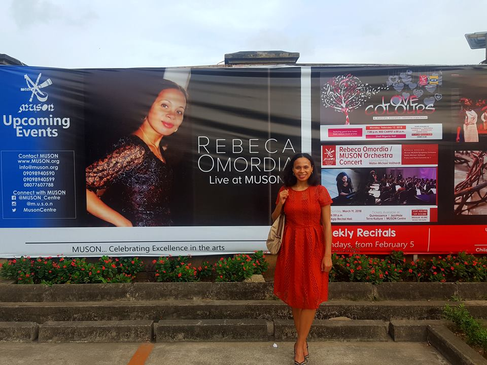 NIGERIA DEBUT - Rebeca will perform at MUSON (Musical Society of Nigeria) Centre in Lagos, Nigeria in March 2018. The programme will include a solo piano recital on 4th March to feature Ravel's Gaspard de la nuit and Ayo Bankole's Piano Sonata no. 2 and on 11th March she will perform Franz Liszt's Piano Concerto no. 1 in Eb major with MUSON Symphony Orchestra.Rebeca will also give a masterclass to the students of MUSON School of Music on 6th March in Agip Recital Hall.