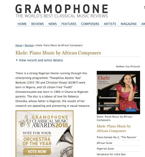 Gramophone Review -