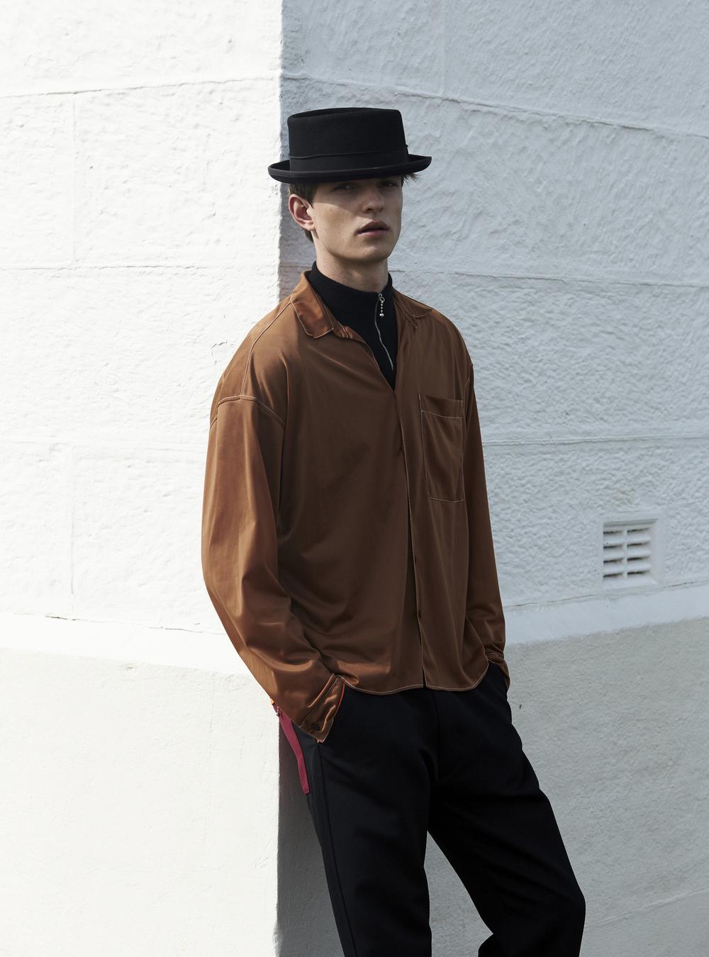 Prada full look, stylist's own hat