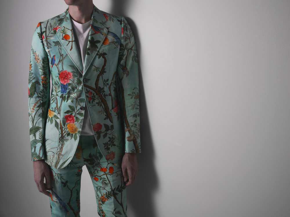 Gucci floral suit