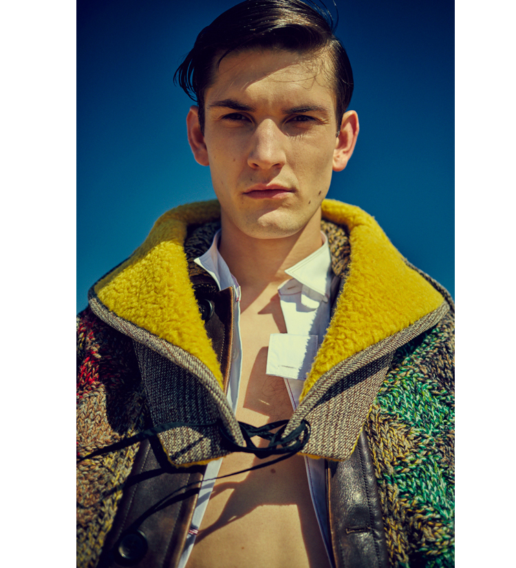 MODEL: Reece Sanders @ London Managment Shirt, Jacket, pants -  Prada