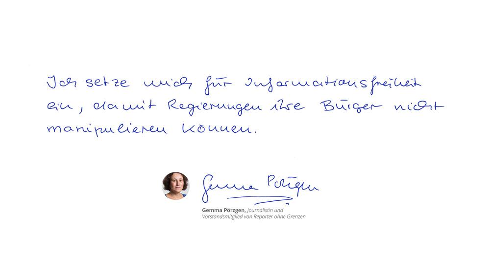 Gemma Pörzgen, journalist and member of the Reporter ohne Grenzen Board of Directors