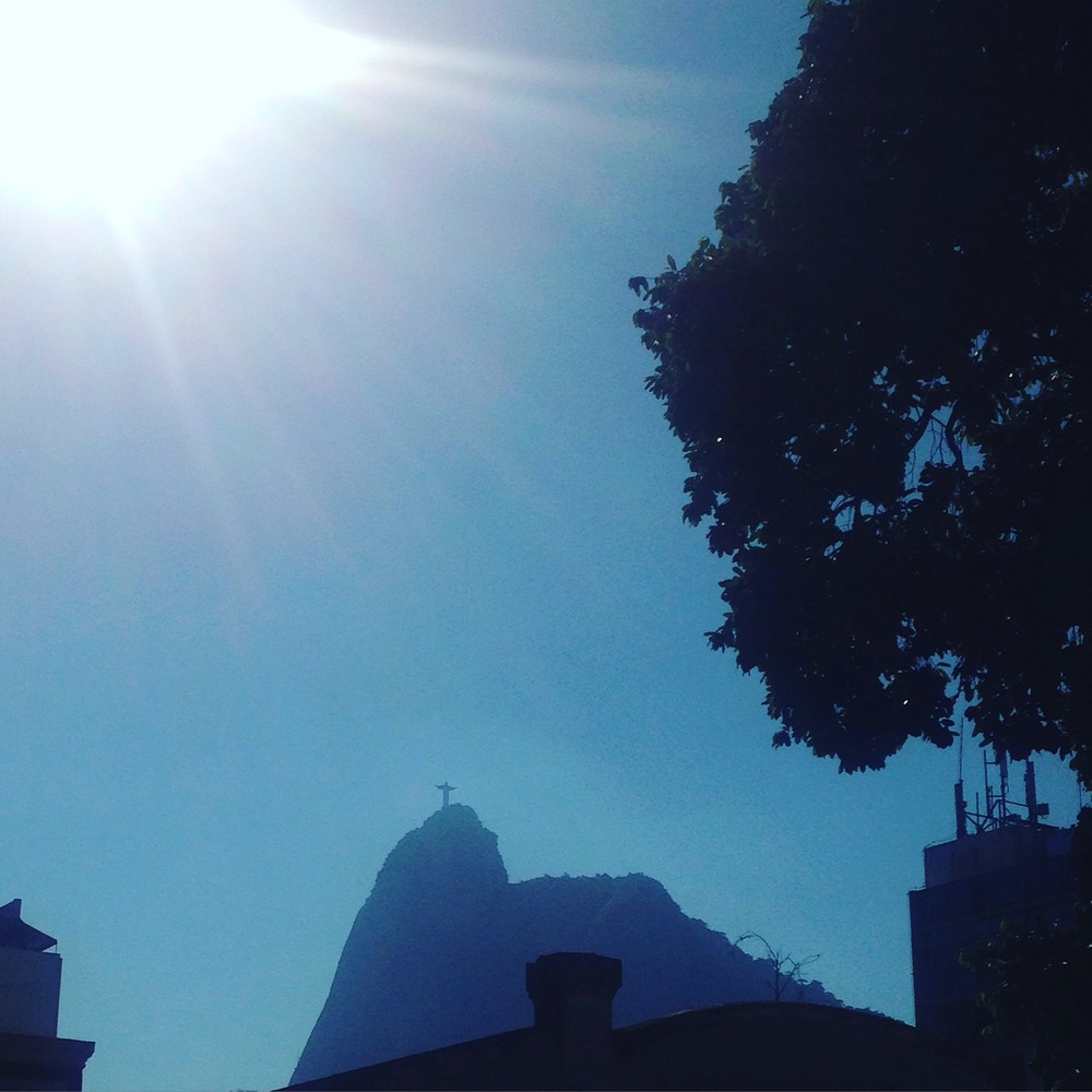 The view from our hostel of Christ the Redeemer!