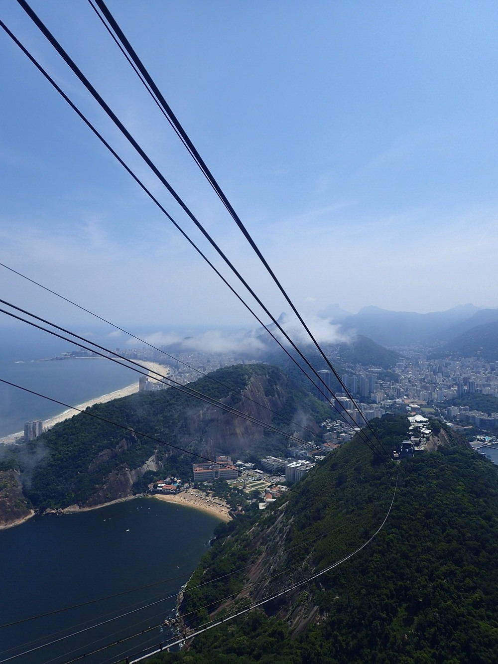 The view from the cable car up to Sugarloaf.