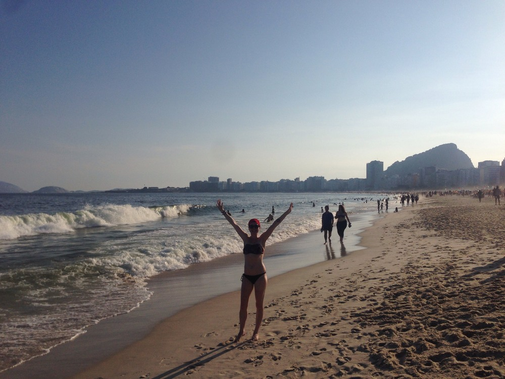 We loved Copacabana beach so much!