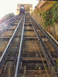 View from the bottom of a funicular