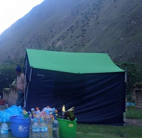 The tent which 13 porters slept in