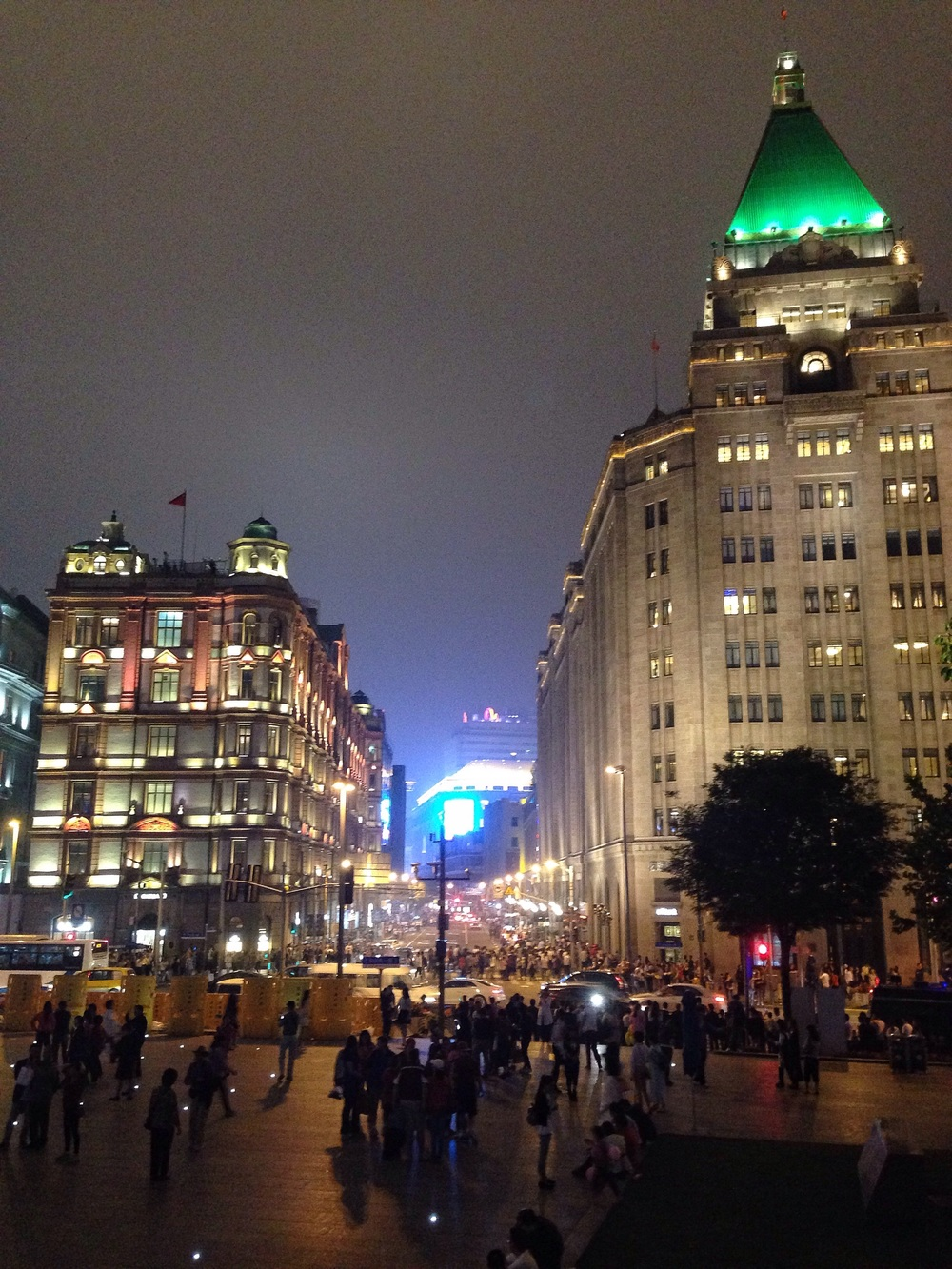East Nanjing Road from The Bund at night.
