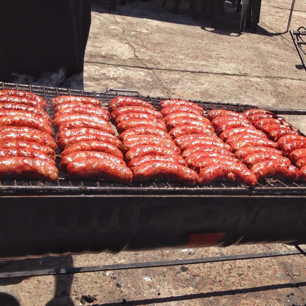 A grill full of Argentine chorizo