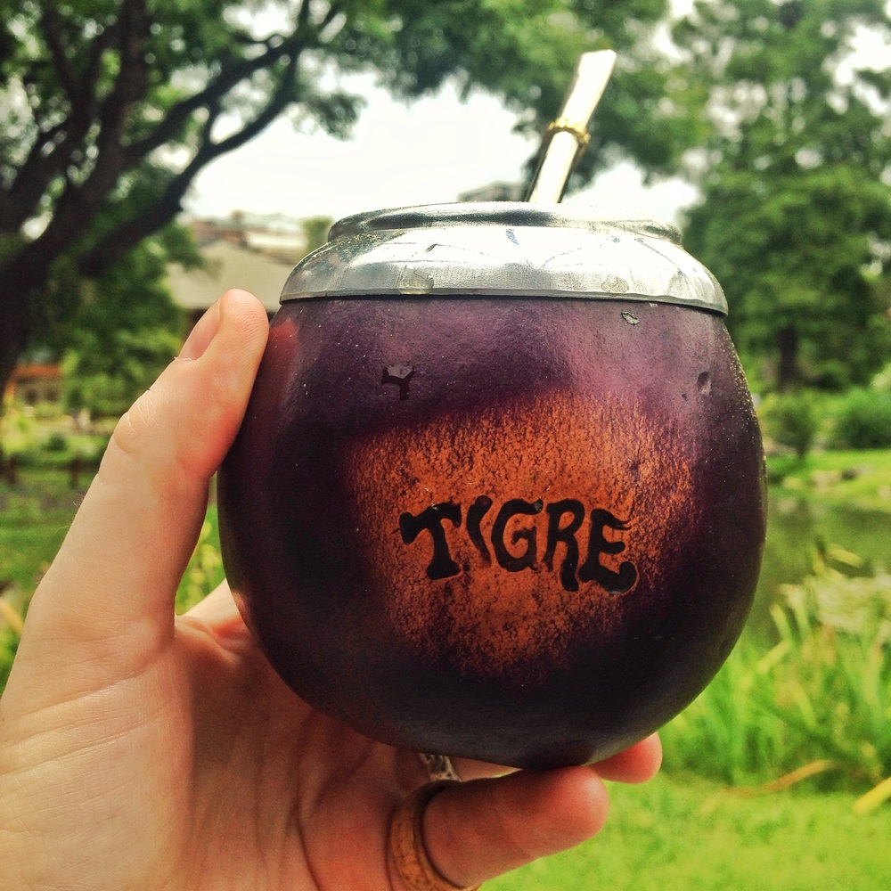Decorative mate cup from... Tigre