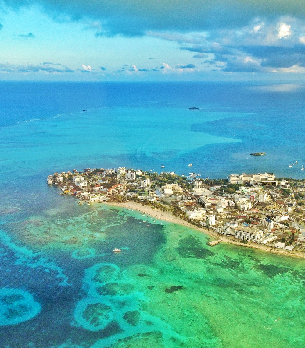 San Andres island from the sky