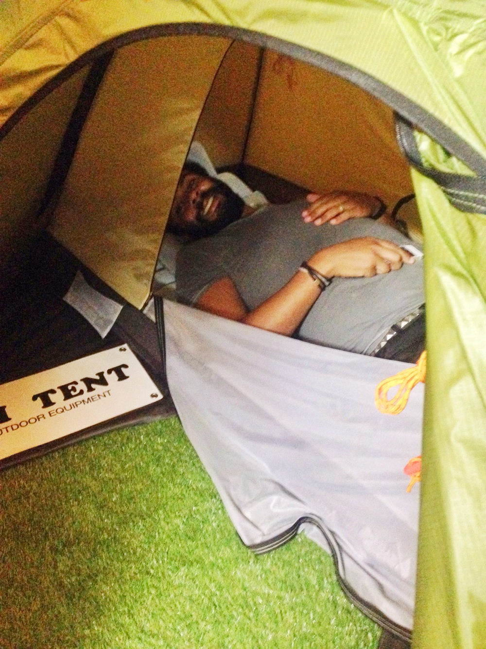 Like the sign says, it's a tent