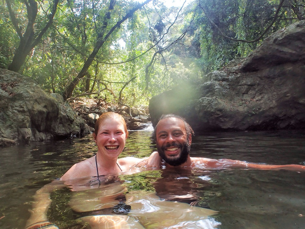 Freshwater swimming in Colombia.