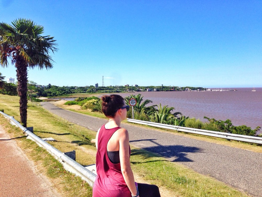 The coast in Colonia, Uruguay