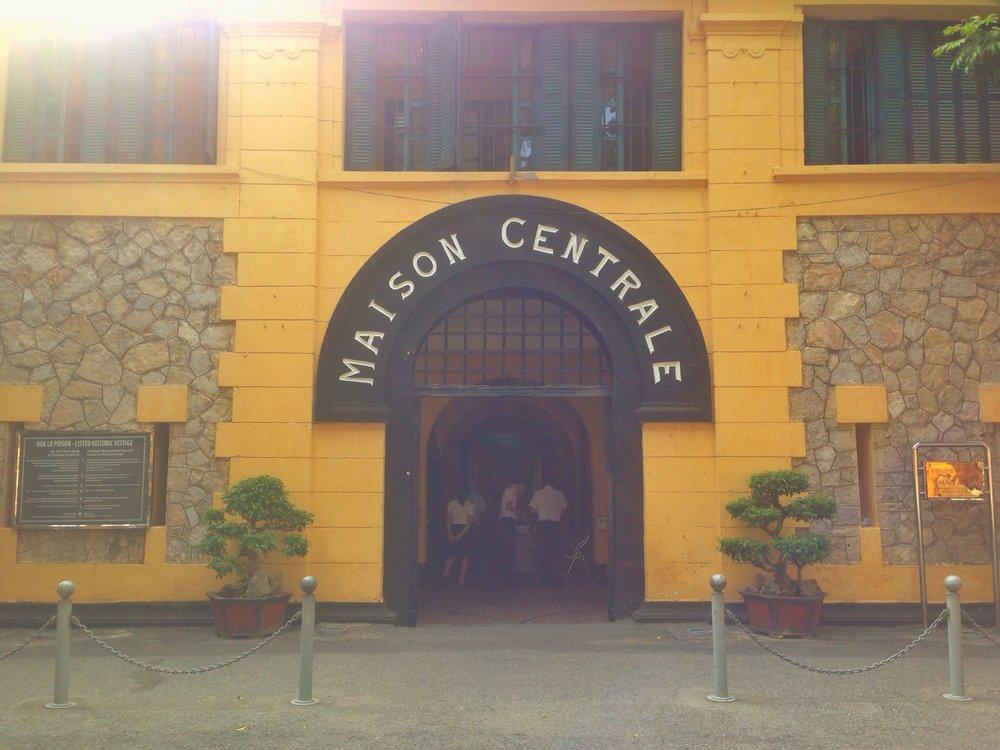 The entrance to Hoa Lo Prison Hanoi