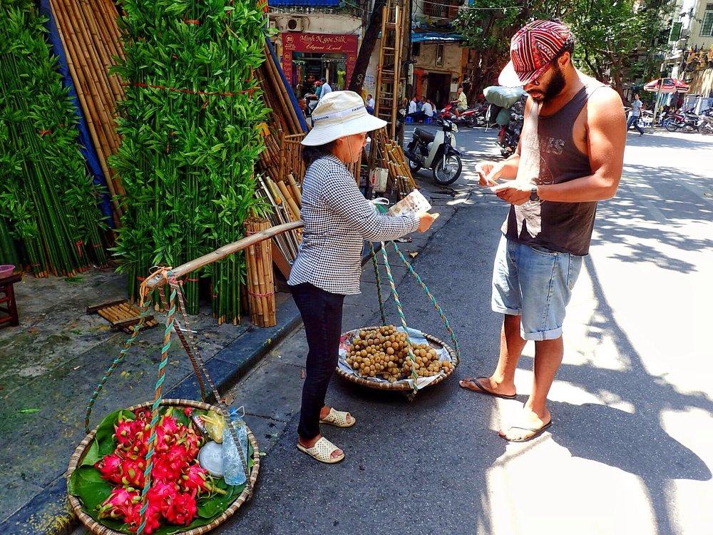 Lady with Yoke in Hanoi