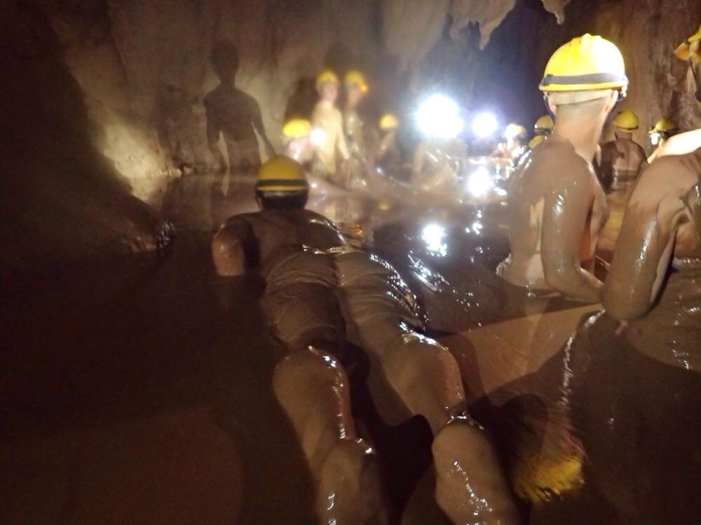 Dark Cave's mud pool